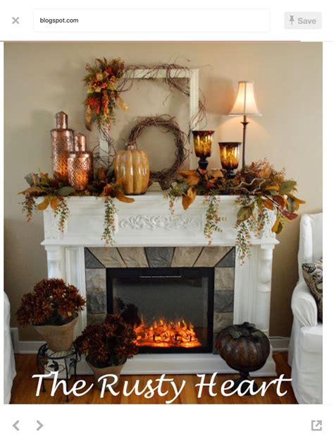 thanksgiving mantel fall rustic mantel decor