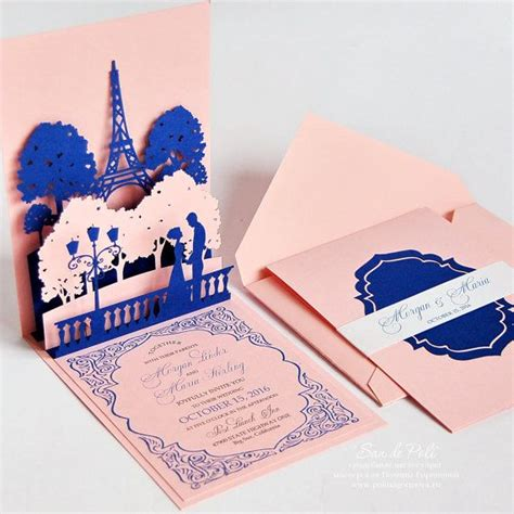 eiffel tower pop up card template pdf pop up wedding invitations of eiffel tower
