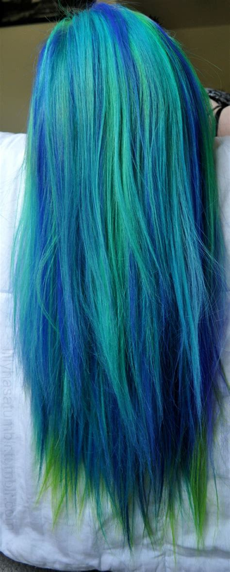 hair green blue peacock blue and green hair h a i r pinterest