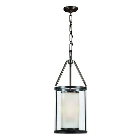 foyer lighting hton bay 3 light rheno bronze foyer pendant 27133 the