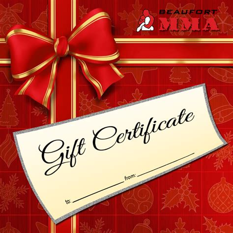 holiday gift certificate beaufort mma