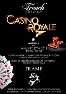 Cocktail Party Invites - casino royale tramp london french tuesdays