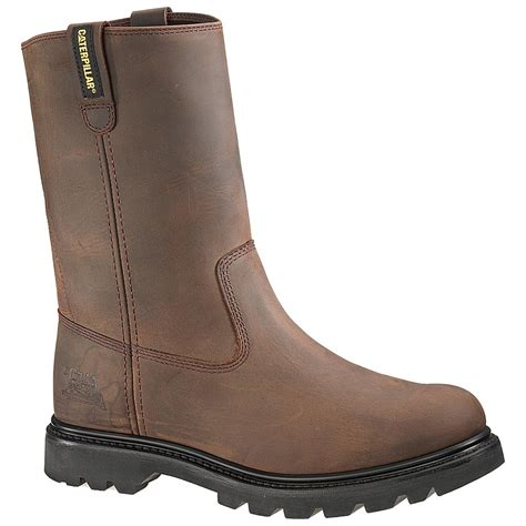 pull on work boots s cat revolver pull on work boot brown 195561