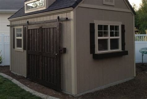 Storage Shed Door Ideas by Use Sliding Barn Doors For Storage Shed Yard Ideas