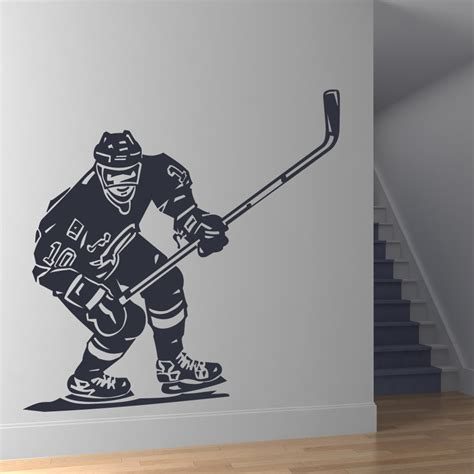 hockey wall stickers front hockey player sports wall stickers wall decal