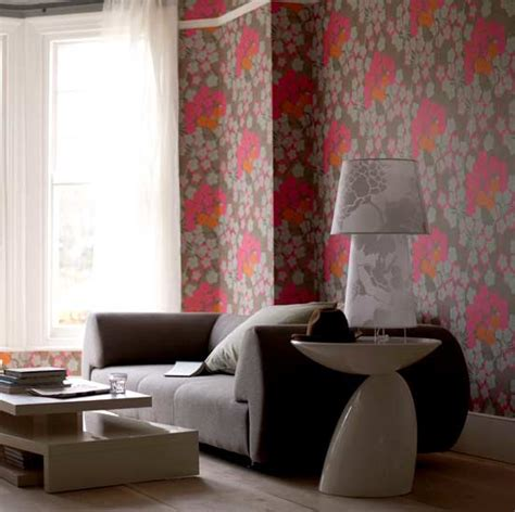 Living Room Wallpaper Or Paint Into Floral Prints Allentown Apartments