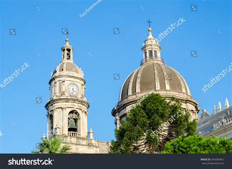 Cupola Tower Cupola Clock Tower Cathedral Santa Stock Photo