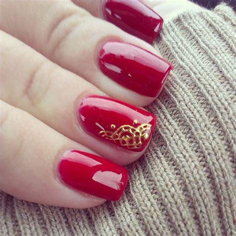 imagenes de uñas de acrilico rojas con dorado hermosas u 241 as decoradas en rojo beautiful red nails