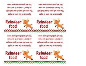 Magic reindeer food printable reindeer food poem printable and magic