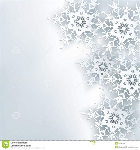 white new year stylish creative abstract background 3d snowflake royalty