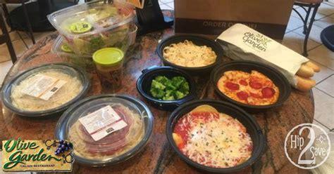 2 for 30 olive garden score 4 olive garden entrees 2 soups salads 4 breadsticks meal for 30 hip2save