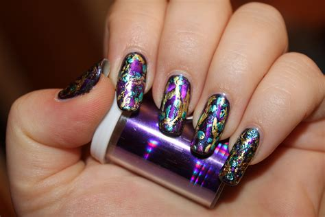 foil nail nail foil design nails by nataliya
