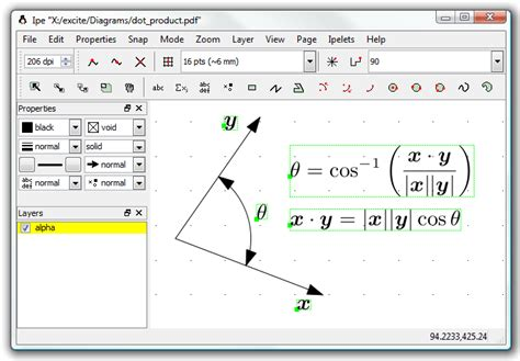 ipe tutorial latex software for drawing simple objects and vectors free body
