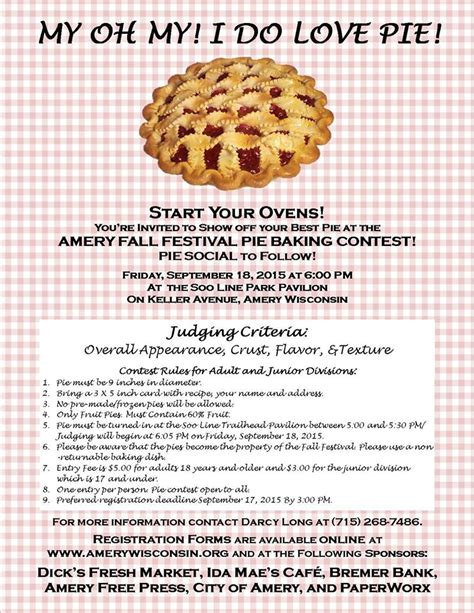 Baking Giveaway - amery fall festival