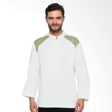 Koko Anak Putih Dan Hijau jual sha baju koko lengan panjang putih hijau