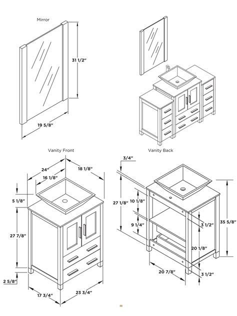 Standard bathroom sink dimensions vessel sink vanity white