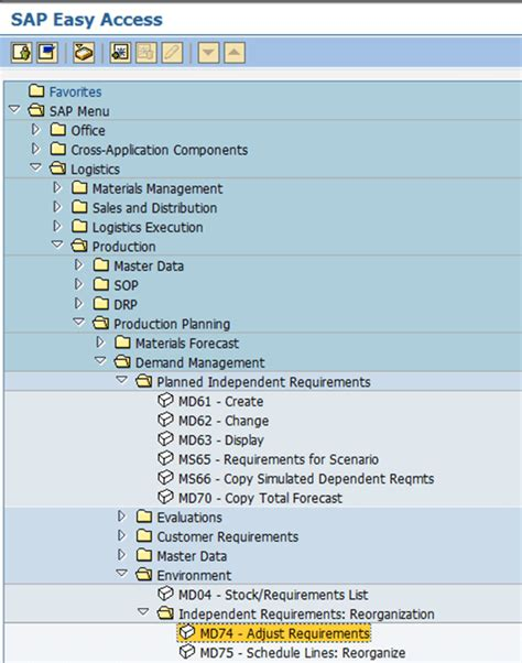 tutorial sap md04 sap demand management tutorial md61 md62 md04 md74 md75
