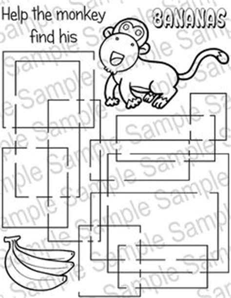 printable monkey maze 1000 images about printable kids activities on pinterest