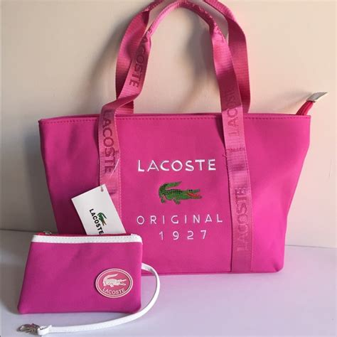Lacoste New Tote 33 lacoste handbags lacoste tote bag with a coin