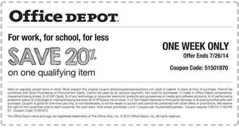 Office Depot Printable Coupons May 2015 Printable Office Depot Coupons 2015 Images
