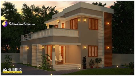 free house design 1400 sqft attractive 3 bhk budget home design by my homes