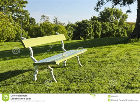 bench in a park bench in a park royalty free stock photo image 20839595