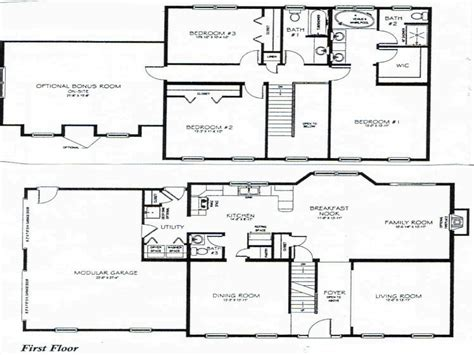 house plans two story 2 story 3 bedroom house plans small two story house plan