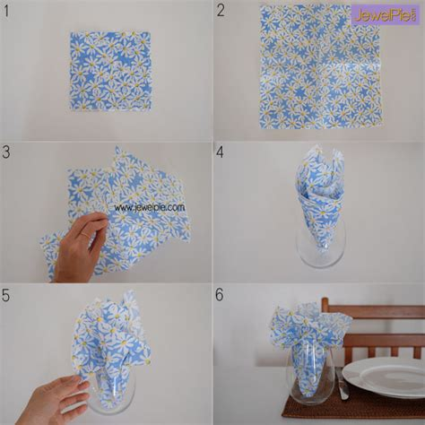 Folding Serviettes Paper - folding fancy paper serviette in 5 seconds jewelpie