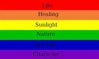 meaning of flag colors meaning rainbow flag by artcupcake on deviantart