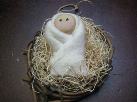 christmas ornament baby jesus winter wonderland pinterest
