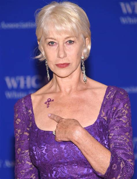 helen mirren tattoo helen mirren sports prince tribute at white house