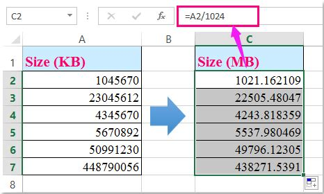 excel format gb tb how to convert between kb and mb gb tb and vice versa