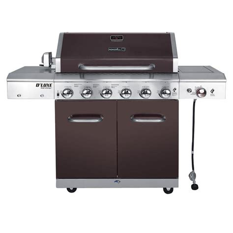 nexgrill deluxe 6 burner propane gas grill in mocha with