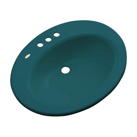 thermocast aymesbury drop in bathroom sink in shell 82408