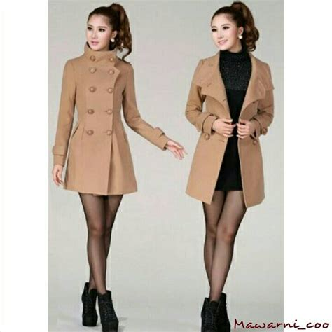 Jaket Baju Pasangan Resleting Winter jual jaket mantel baju hangart winter blazer coat reysotic brown mawarni collection