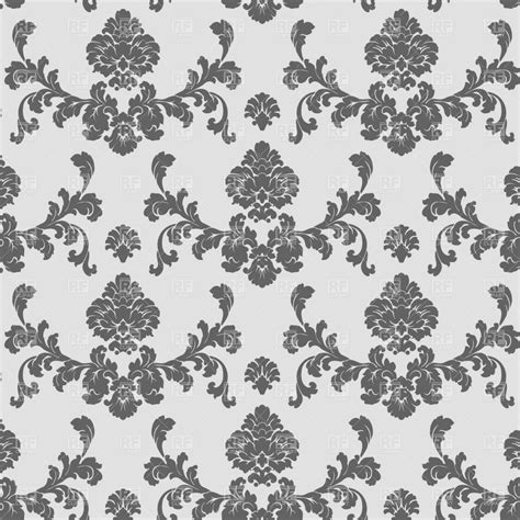 black and white seamless vintage wallpaper royalty free classic seamless wallpaper pattern royalty free vector
