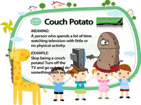 couch potato meaning english slide idioms