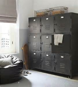 ways to use metal lockers in rooms storage
