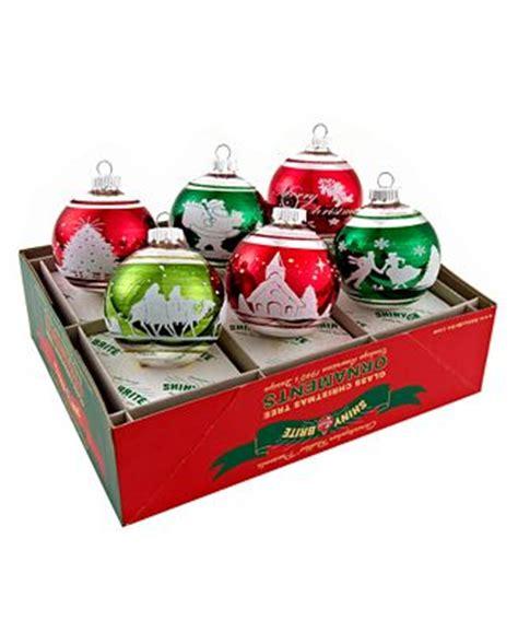 christopher radko christmas ornaments set of 6 shiny