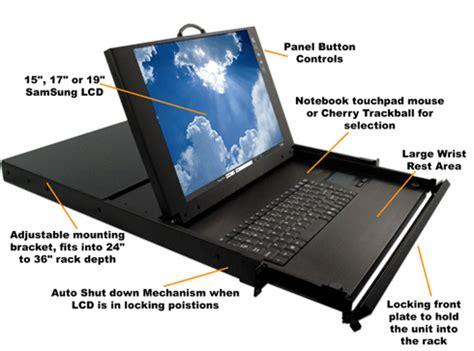 Laptop Rack Mount by 1u Monitor Keyboard Rack Mount Kvm Drawer Rackmount 1u