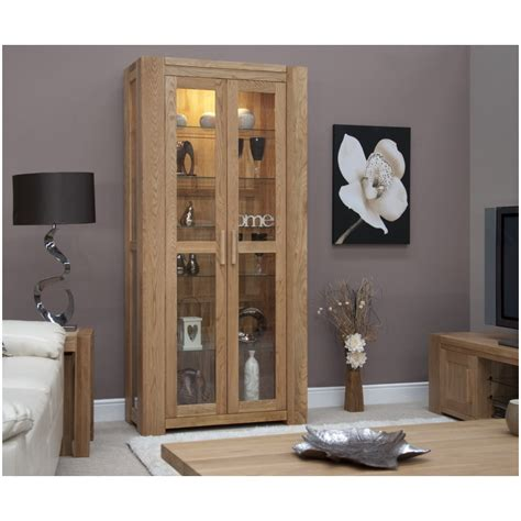 Living Room Display Furniture Pemberton Solid Modern Oak Living Room Furniture Glazed Display Cabinet Ebay
