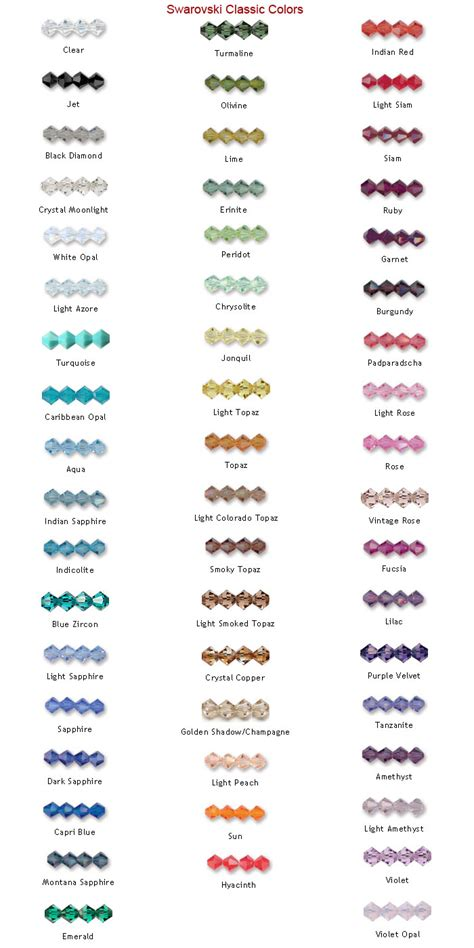 courage bead color guide international bead novelty co home
