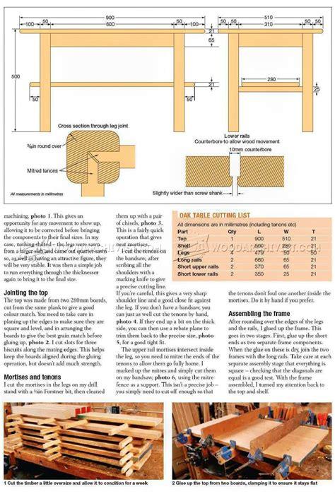 coffee table wood plans solid oak coffee table plans woodarchivist