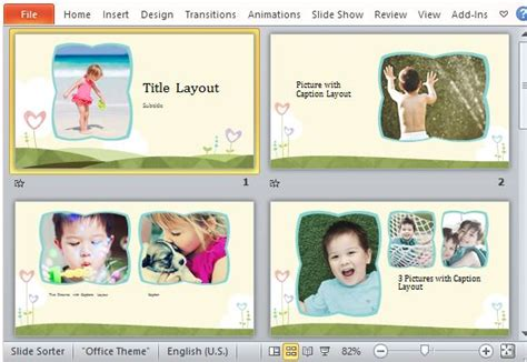 powerpoint photo album template