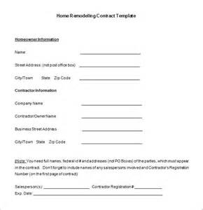 remodeling contract template home remodeling contract template 7 free word pdf