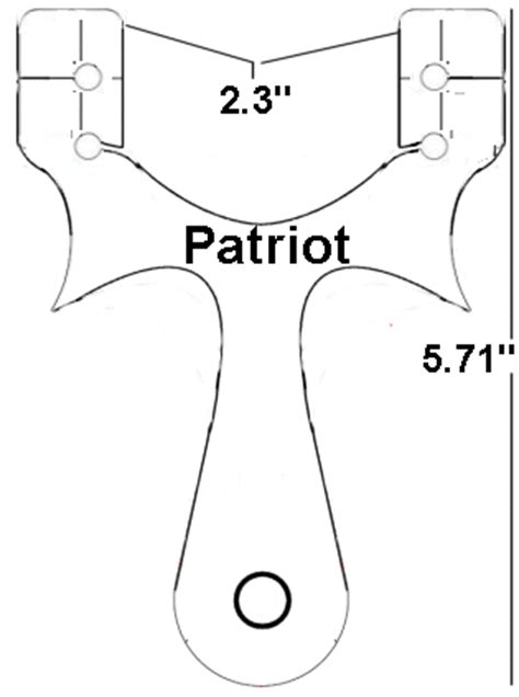 the patriot tactical slingshot templates support