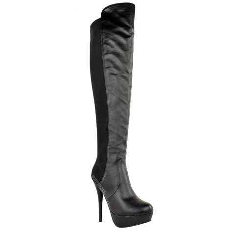 womens high heel stiletto the knee thigh high