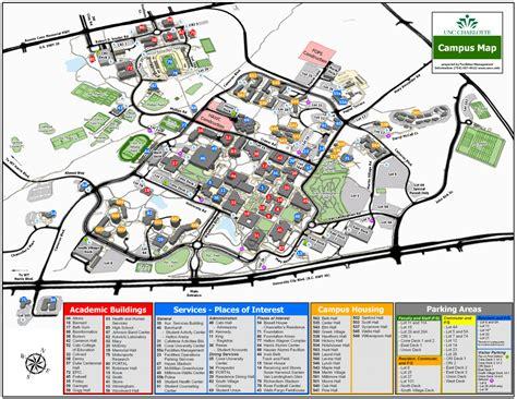 Uncc Finder Printable Cus Maps Facilities Management Unc