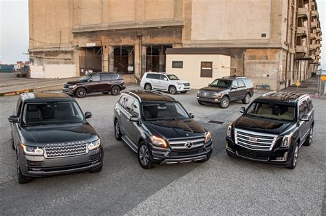 luxury trucks and suvs the big test large luxury suvs motor trend