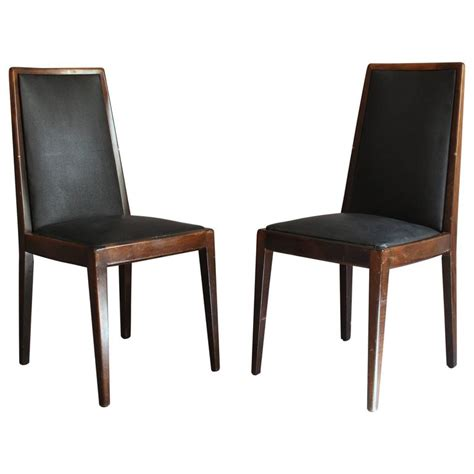 set of 12 deco stained beech dining chairs for sale at